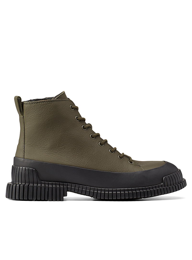 Camper Mossy Green Pix lace-up boots Men for men