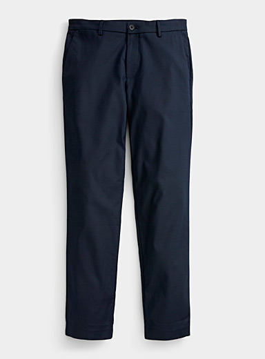 Calvin Klein Blue Wrinkle-resistant technical chino  Slim fit for men