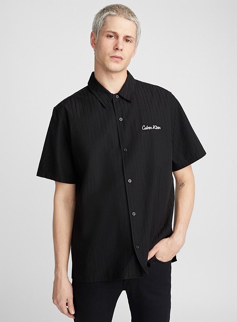 Monochrome worker shirt  Semi-tailored fit - Solid
