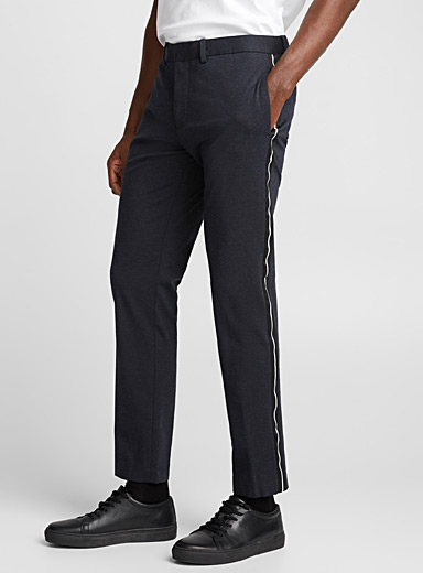 Tuxedo stripe structured jersey pant <br>Skinny fit <br>