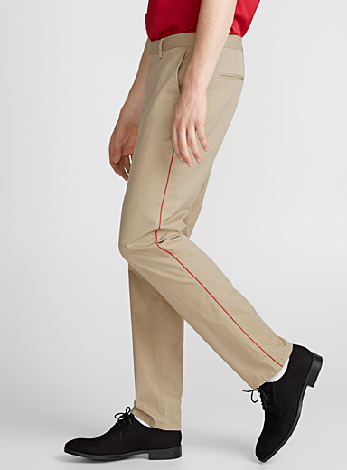 Accent trim chinos <br>Skinny fit