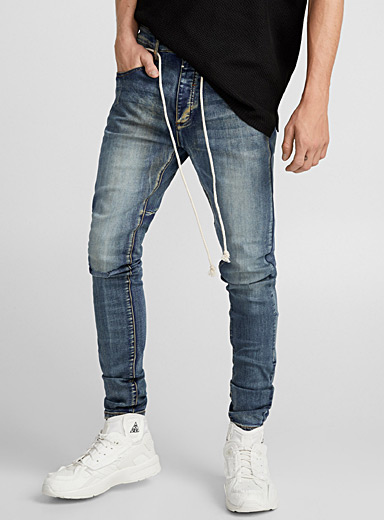 Faded knee jean  Super skinny fit