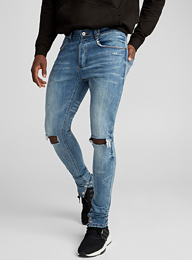 Ripped knee jean <br>Super skinny fit
