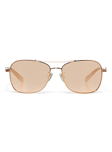 Coach pink aviator sunglasses