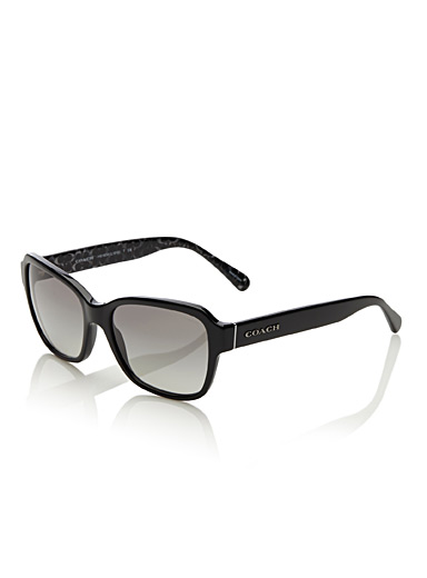 Coach monochrome rectangular sunglasses