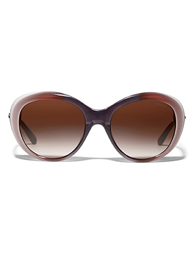 Graded round sunglasses