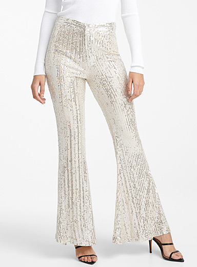 Flared sequin pant