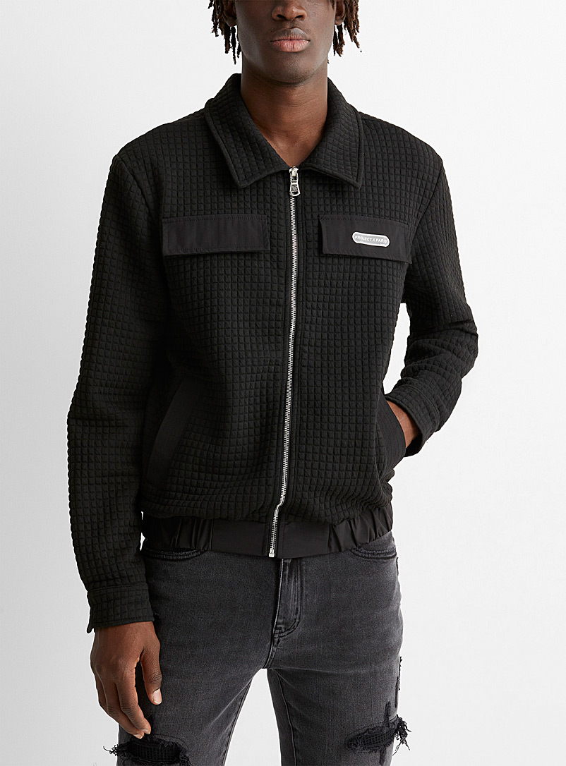 Project X Paris Black Embossed overshirt for men