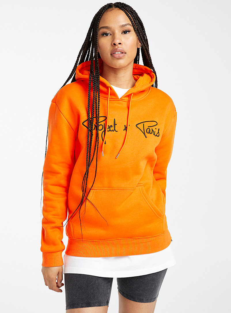 Project X Paris Orange Logo orange hoodie for women