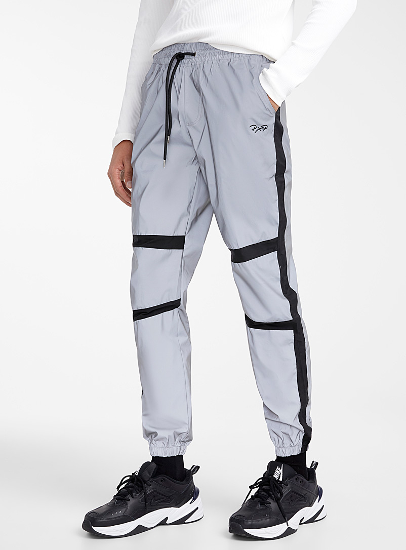Project X Paris Grey Reflective joggers for men