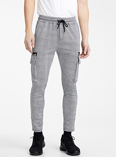 Prince of Wales cargo joggers