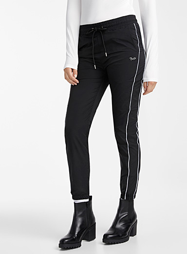 Project X Paris Black Reflective stripe joggers for women