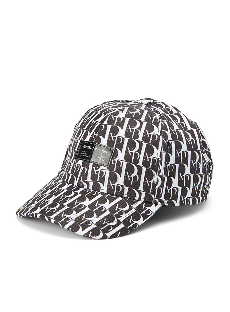 Project X Paris Black Multi-logo cap for men