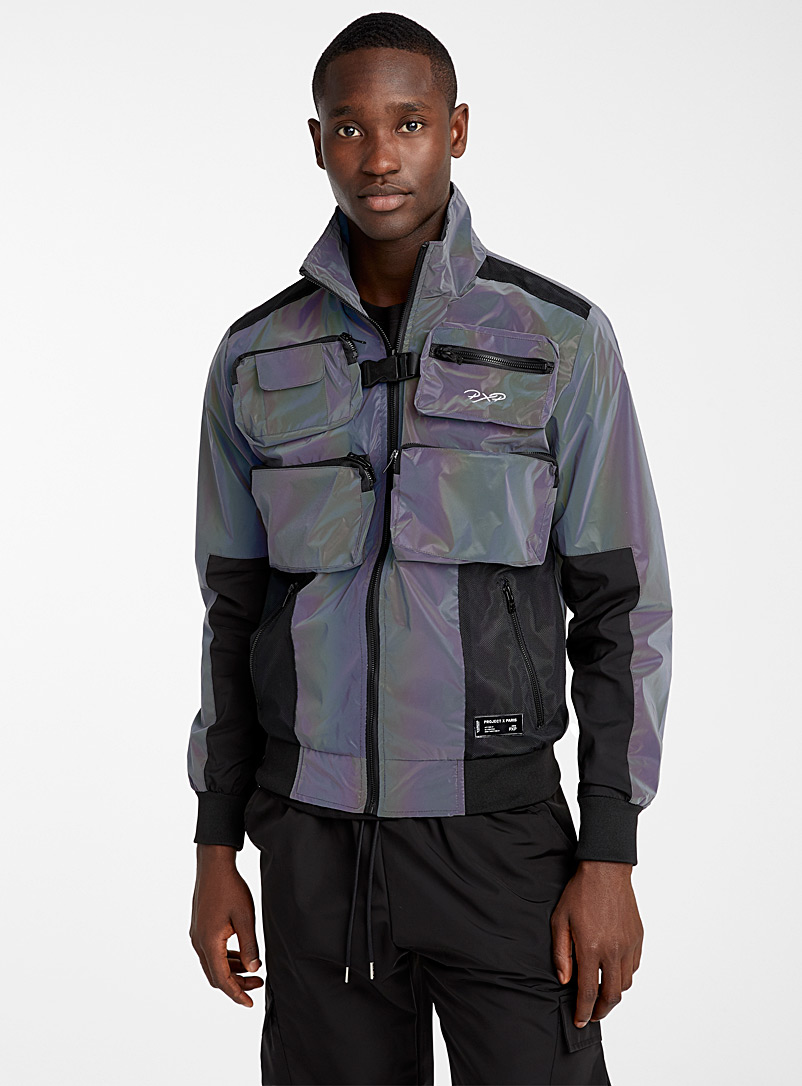 Project X Paris Black Iridescent utility jacket for men