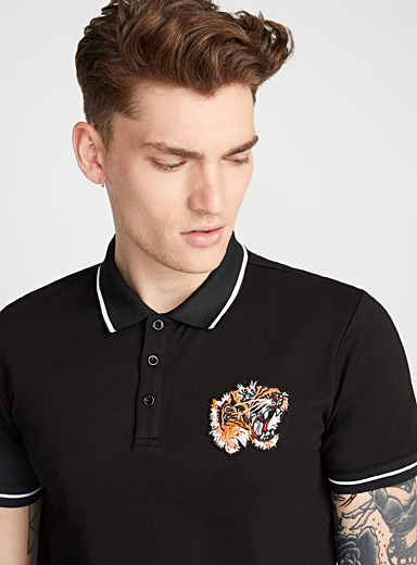 Tiger patch polo