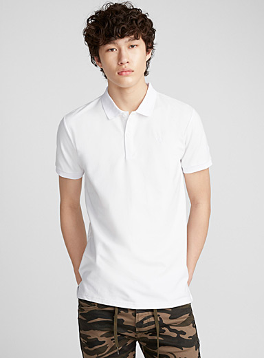 Monochrome athletic polo