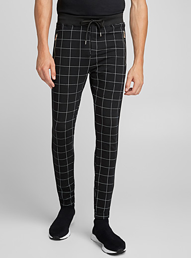 Windowpane check jogger pant