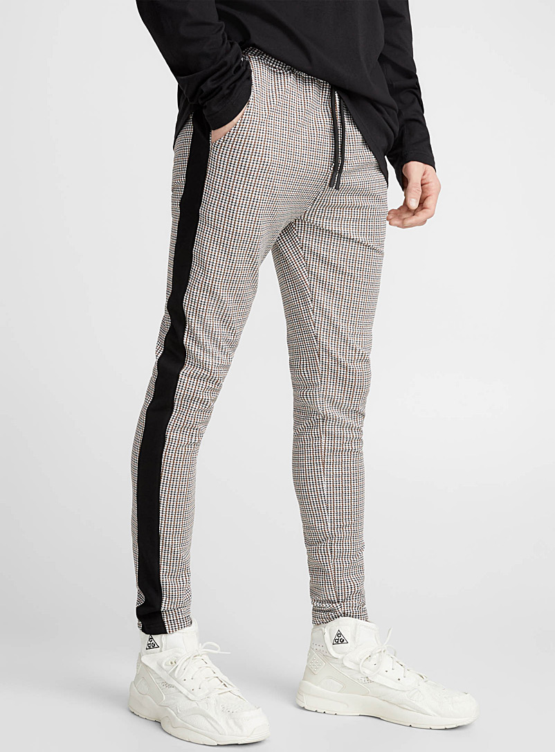 Houndstooth jogger pant - Joggers - Ivory White