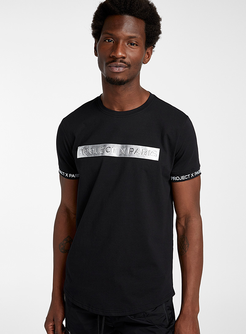 Project X Paris Black Silver logo T-shirt for men