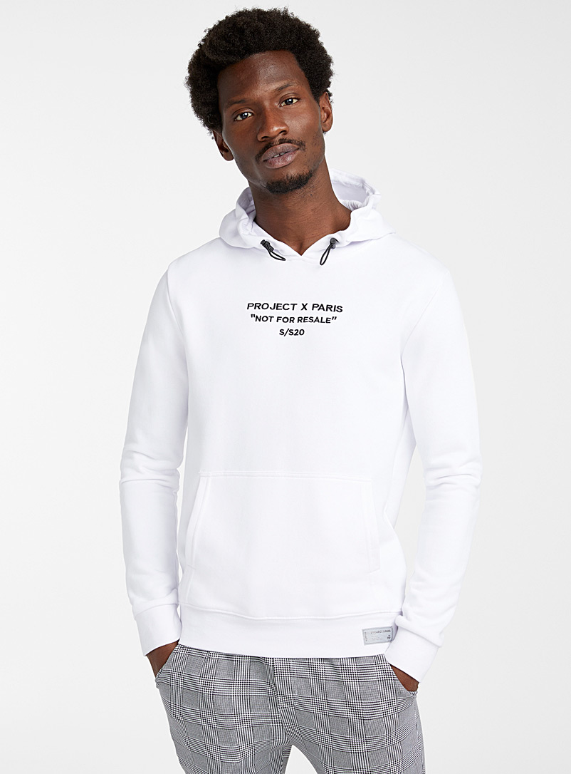 Project X Paris White Not For Resale hoodie for men