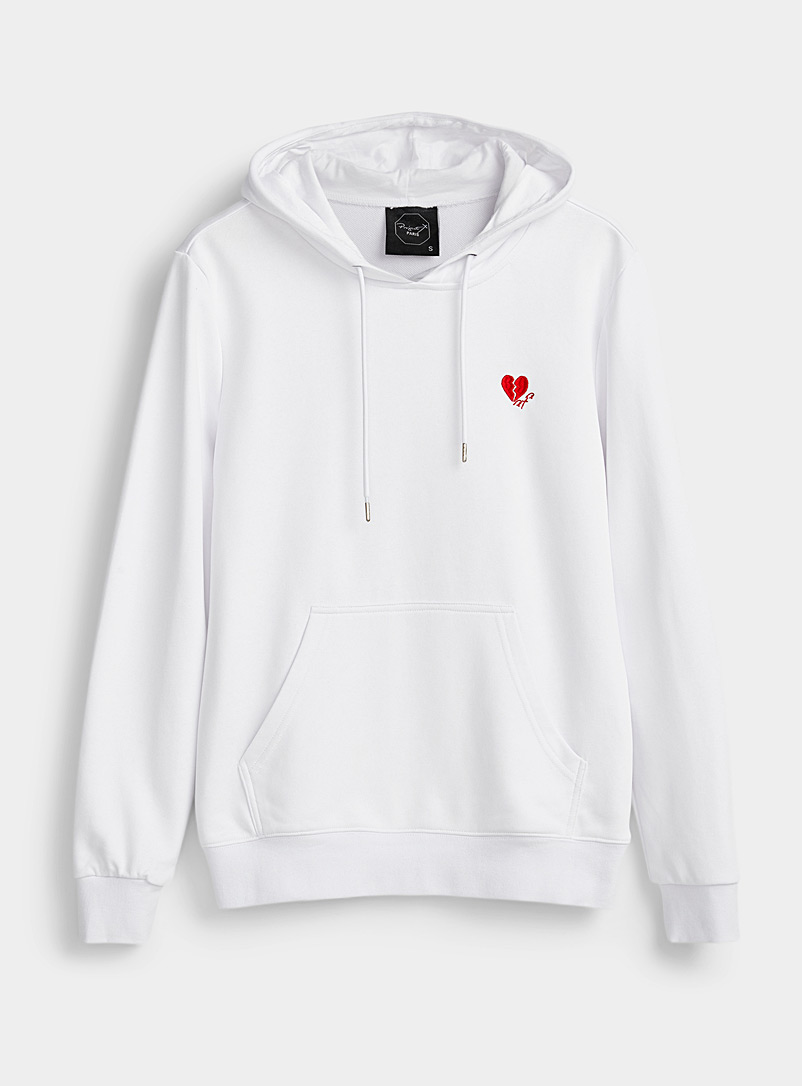 Project X Paris White Broken heart hoodie for men