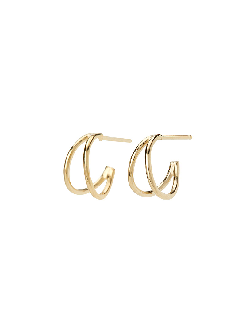 Natalie small gold hoops - Designer Jewellery - Assorted