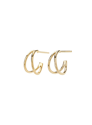Natalie small gold hoops
