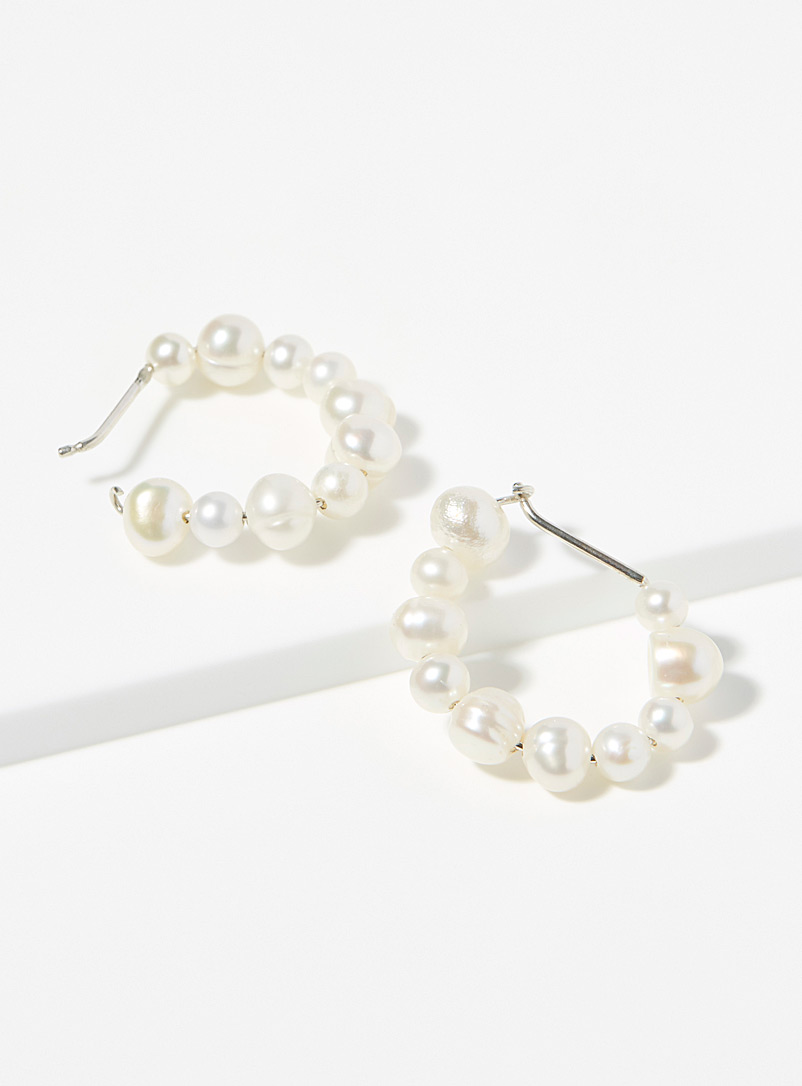 Wolf Circus White Estelle hoops for women