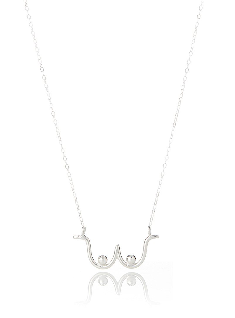 Silver boob necklace - Designer Jewellery - Silver