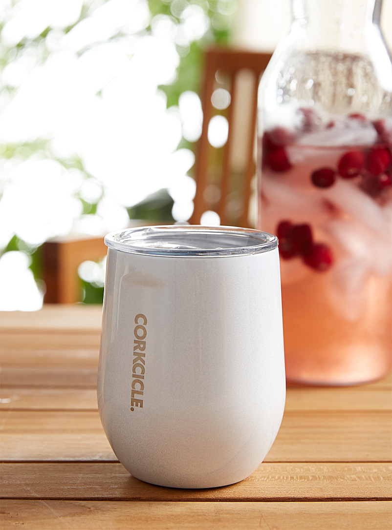 Corkcicle White Iridescent insulated glass
