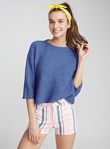 Le pull manches 3/4