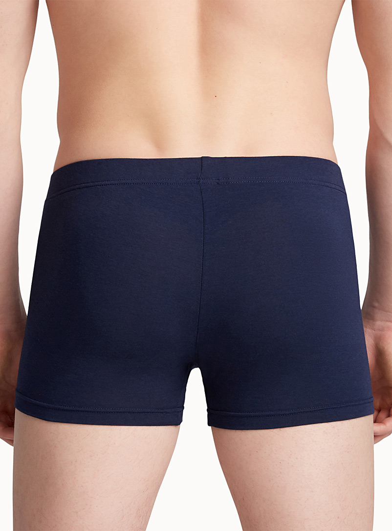 JM Marine Blue Slim fit trunk for men