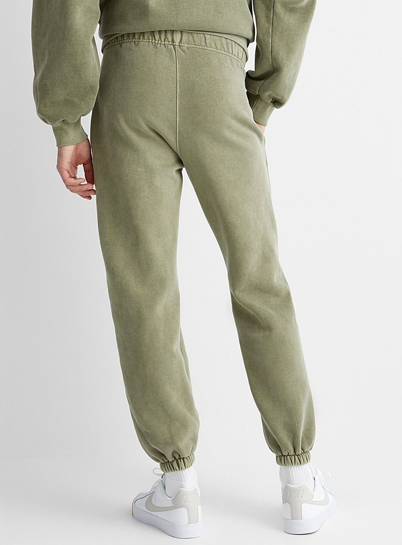 Le 31 Mossy Green Faded sweatpant for men