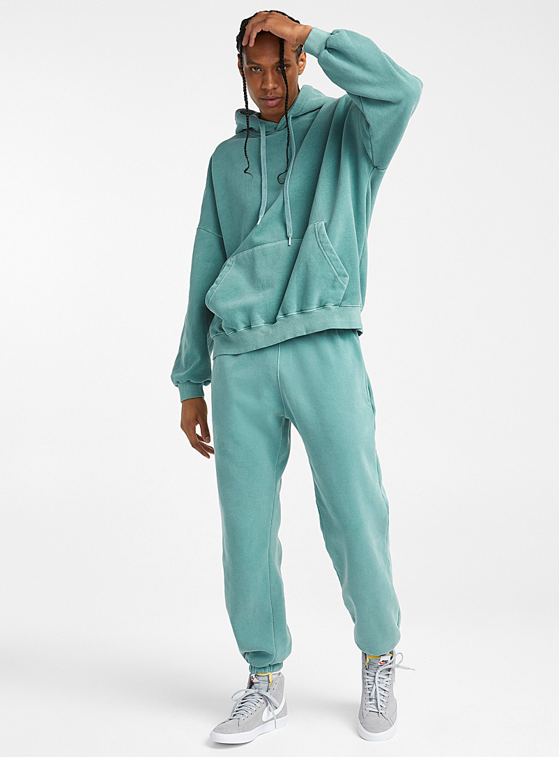 Le 31 Teal Faded sweatpant for men