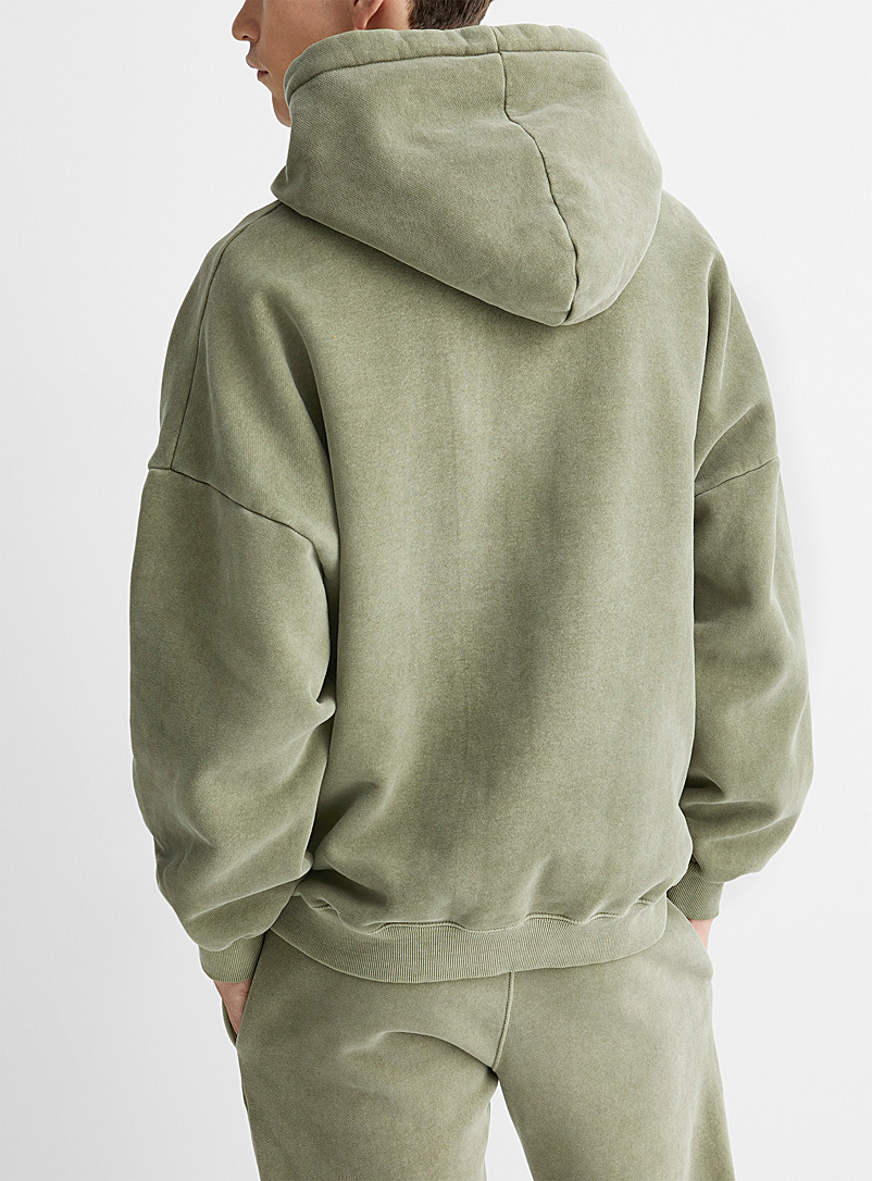 Faded hooded sweatshirt - Sweatshirts & Hoodies - Mossy Green