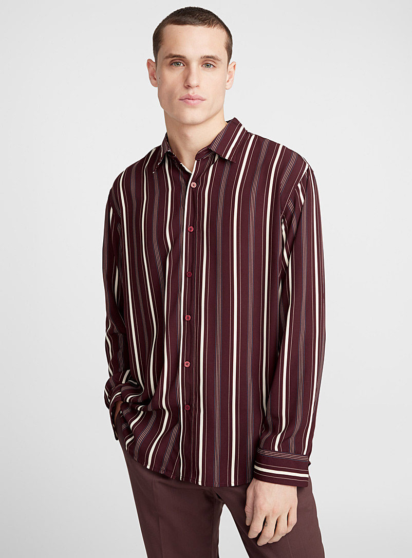 Striped fluid shirt  Semi-tailored fit - Patterns - Ruby Red