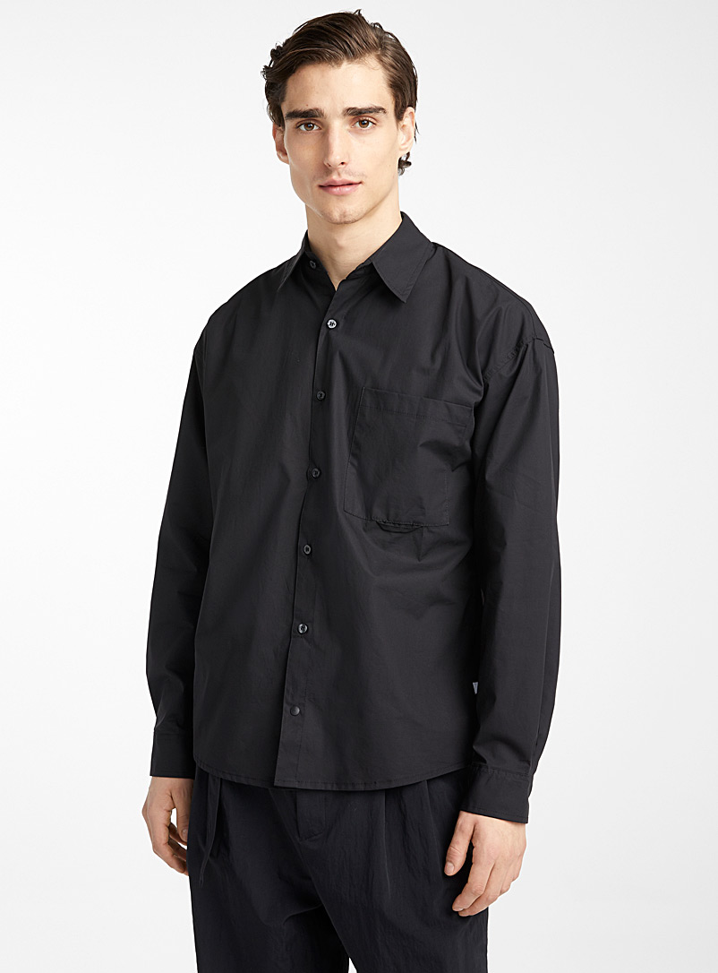 Le 31 Black Boxy shirt for men