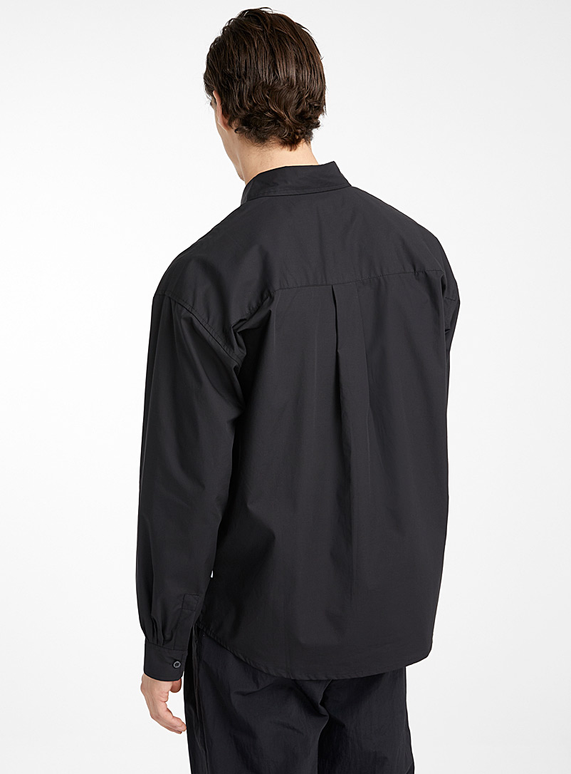 Boxy shirt - Solid - Black