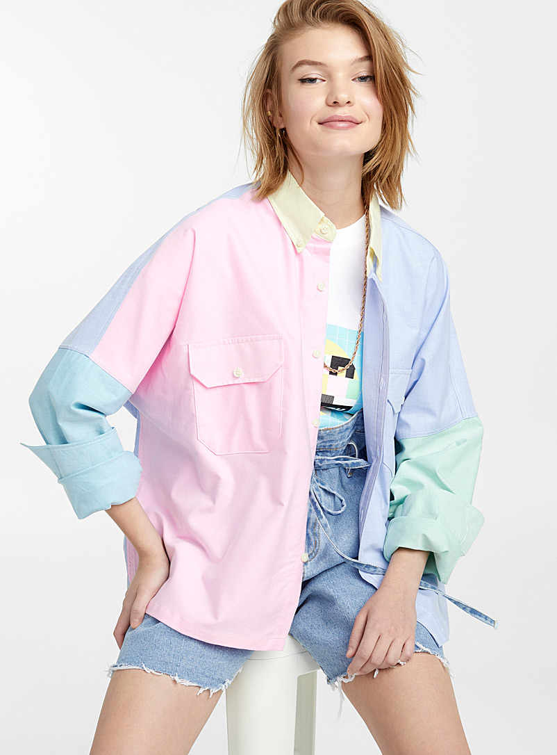 Colour block pastel shirt - Shirts - Assorted