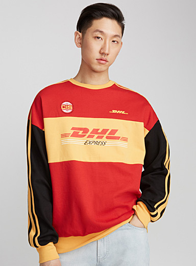 Le sweat col rond bootleg DHL