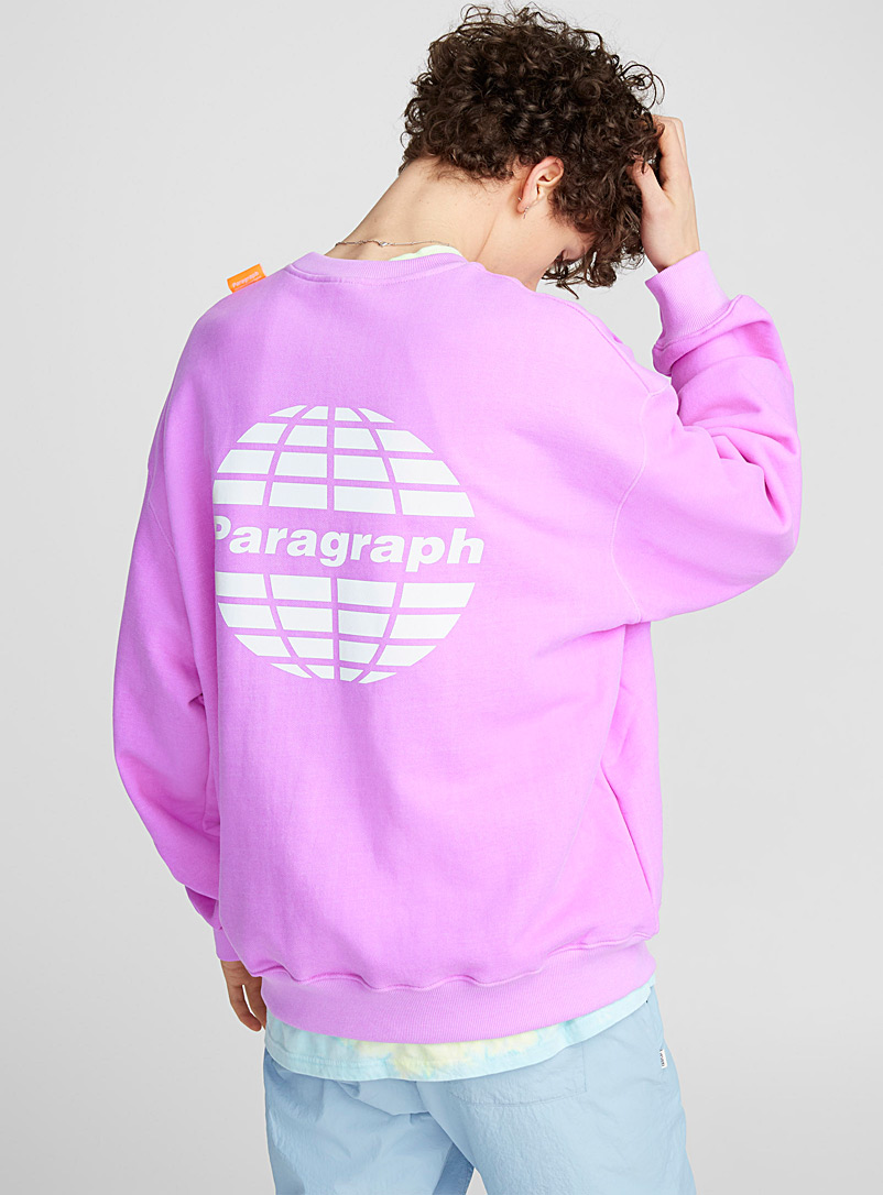 Reflective logo sweatshirt - Long sleeves - Mauve