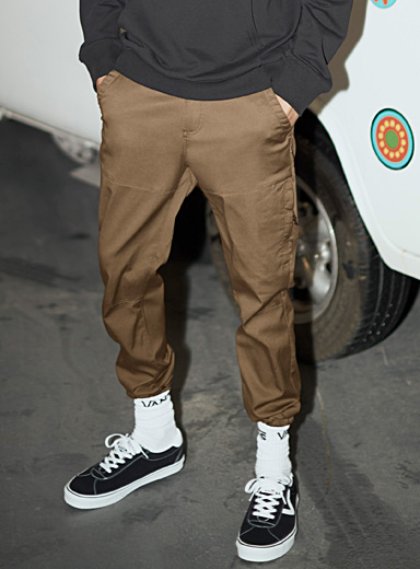 Structured slim joggers