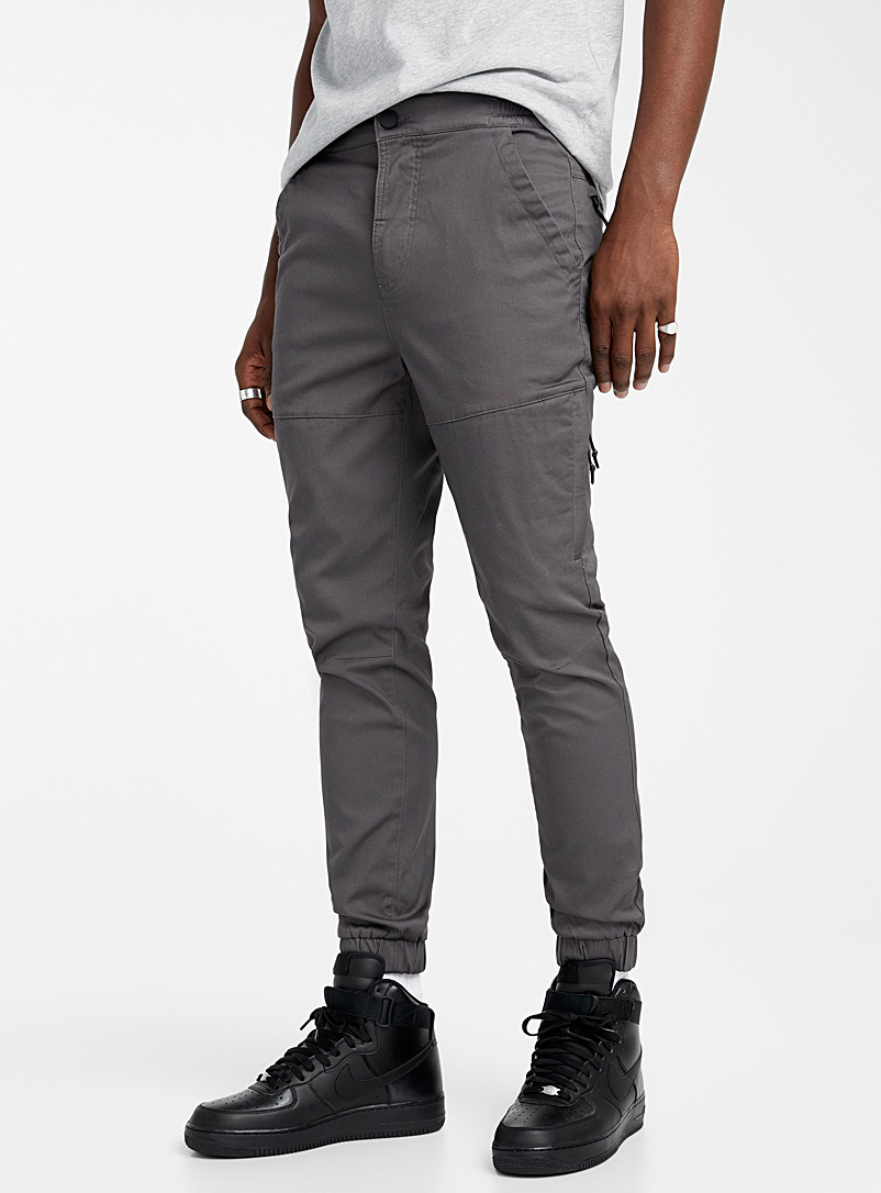 Djab Grey Organic cotton ergonomic joggers for men