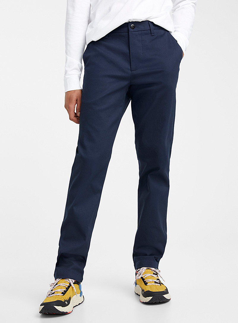 Djab: Le chino workwear coton bio  Coupe Staalstraat - Droite-étroite Marine pour homme