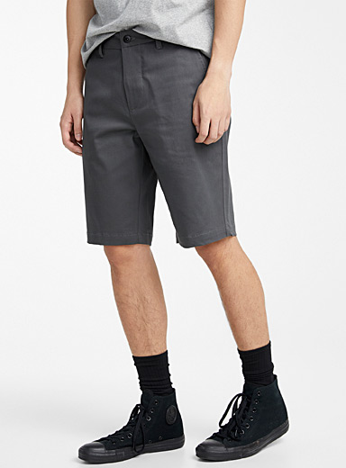 Djab Grey Organic cotton chino Bermudas for men