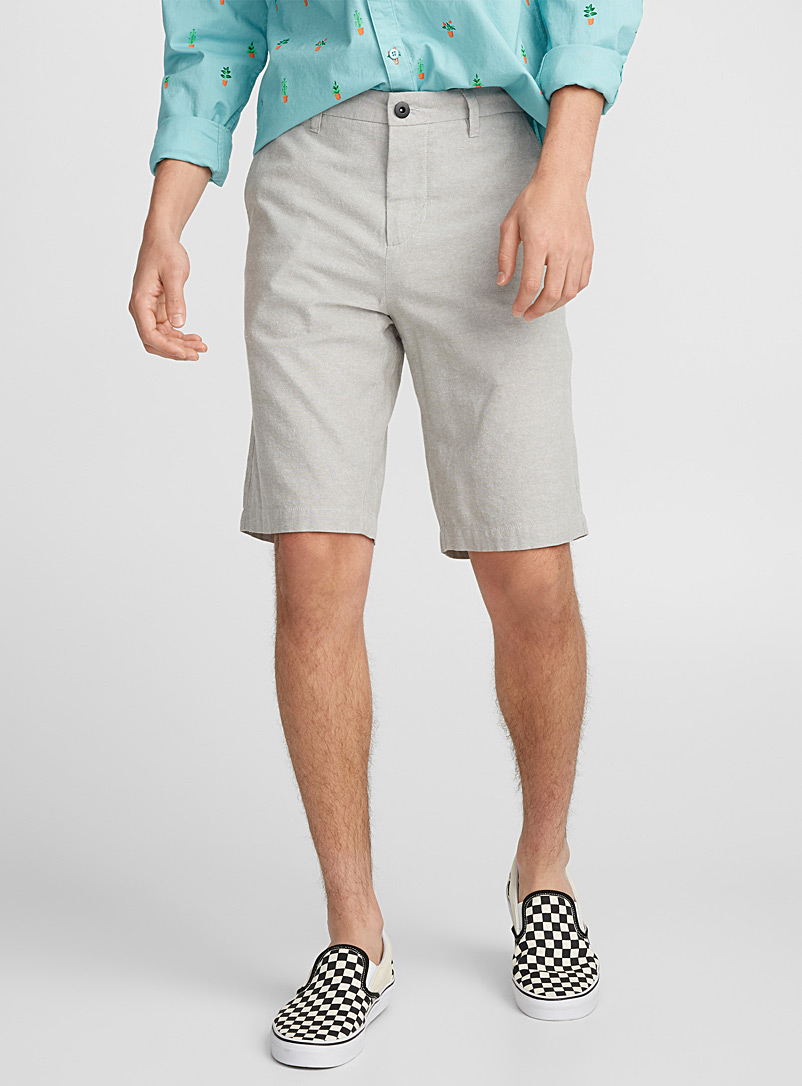 Oxford chino organic cotton Bermudas - Bermudas - Light Grey