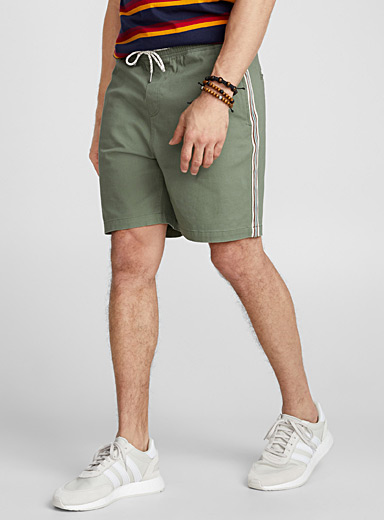 Striped band chino Bermudas
