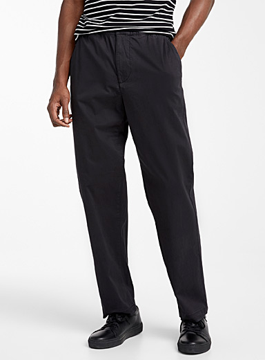 Organic cotton elastic-waist pant  Straight fit