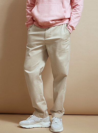Organic cotton elastic-waist chinos  Straight fit