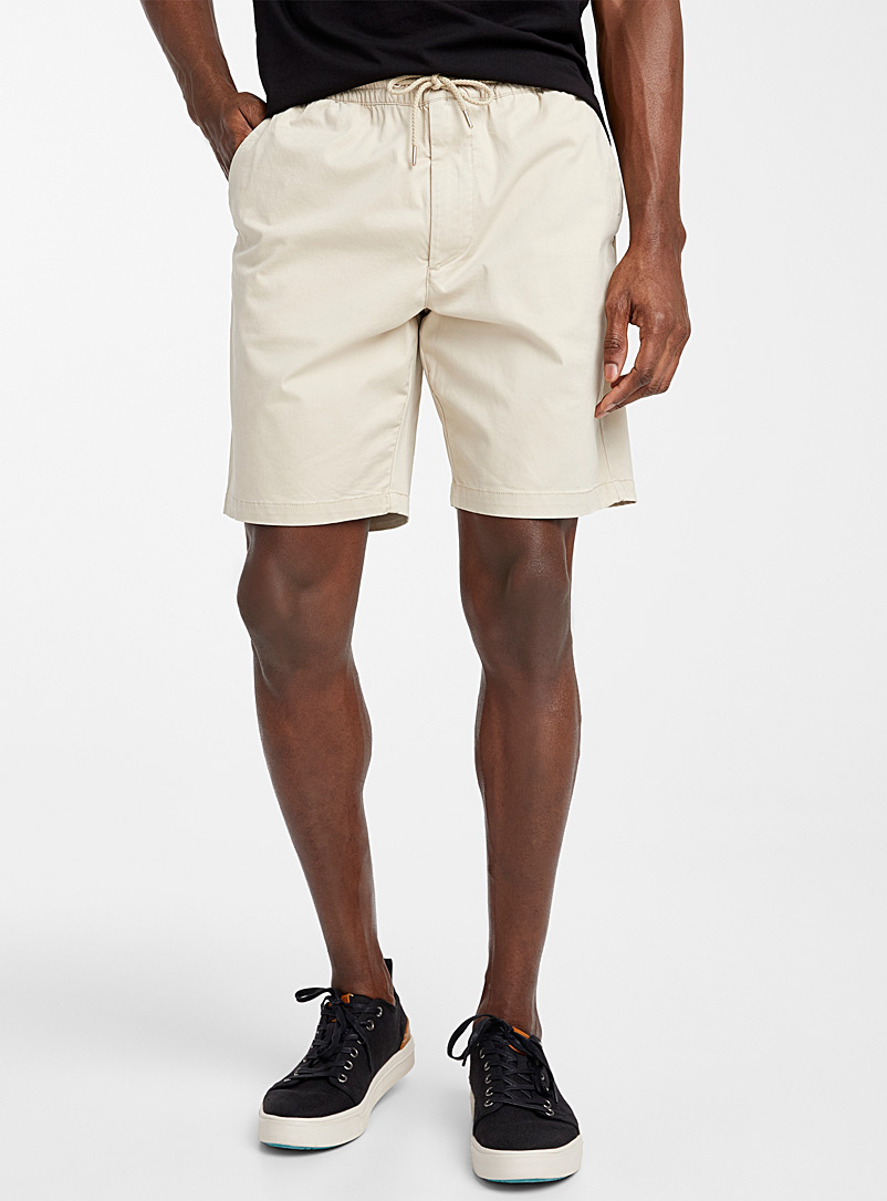 Le 31 Sand Organic cotton comfort-waist short for men